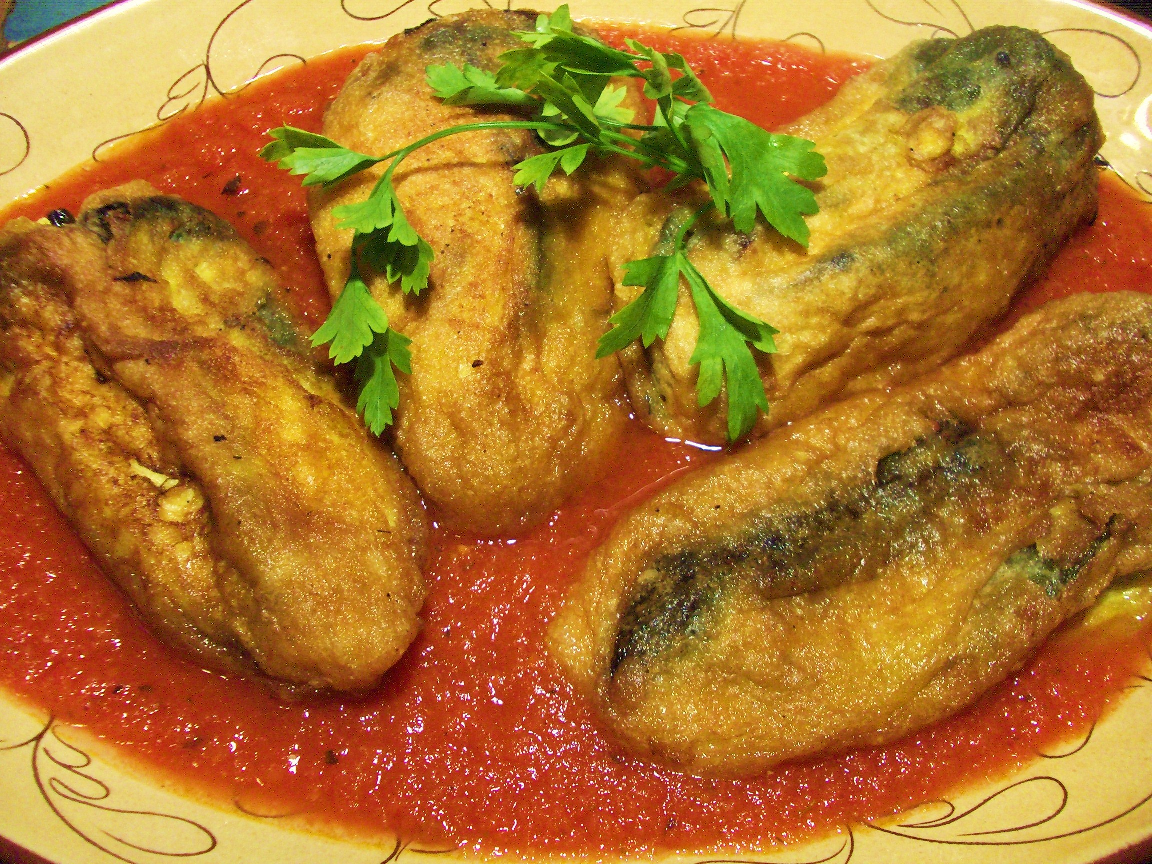 Chiles Rellenos — poblano chiles stuffed with cheese and ...