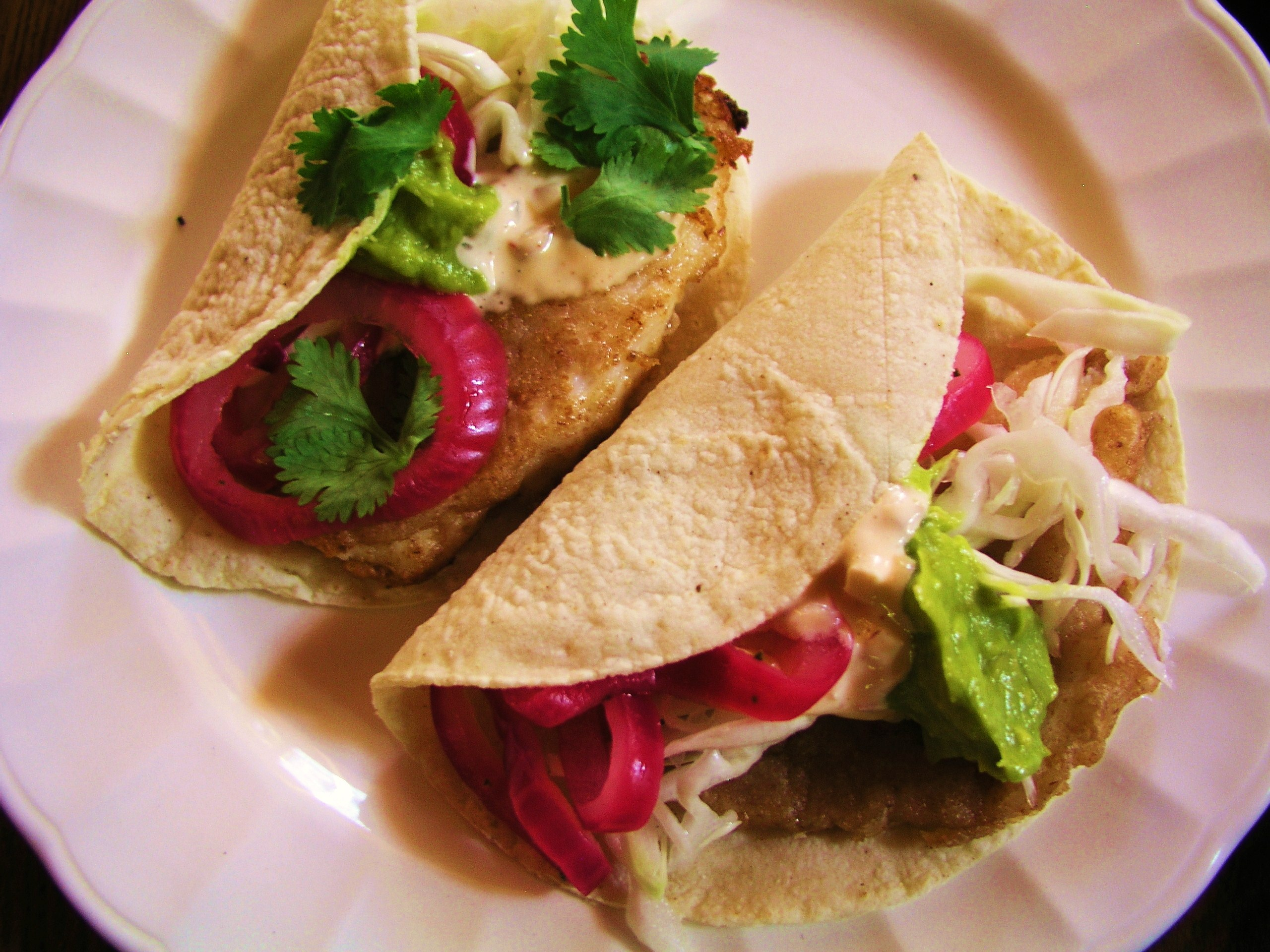 Fish tacos in mexico baja style with recipes for for What kind of fish for fish tacos